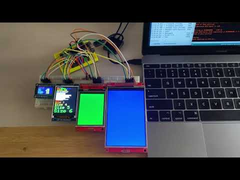 Arduino_GFX drive 4 Displays at the same SPI