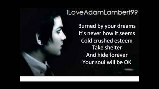 Adam Lambert - Soaked With Lyrics