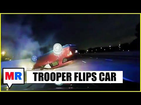 FOOTAGE: Cop Flips Pregnant Woman's Car