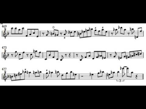 This is an original transcription I did a few years ago of a 1963 John Coltrane performance.
