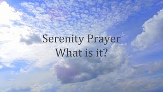 What is the Serenity Prayer