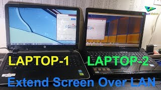 Extend Laptop Screen Over LAN to Another Laptop || SPACEDESK