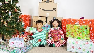 Christmas Presents and Surprise Toys Opening from Amazon