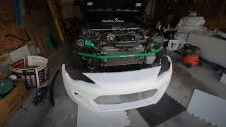 Rocket Bunny v2 front bumper test fit #HentaiKingsSquad