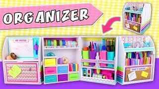 🗃 DESKTOP ORGANIZER DIY Expandable From Cardboard 👉 Back To School | APasos Crafts DIY