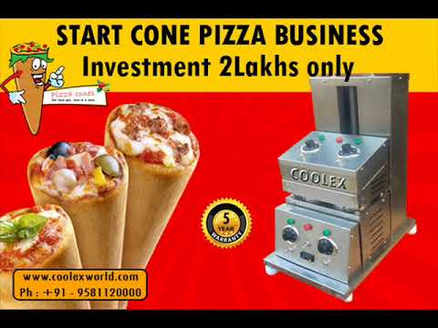 BEST PIZZA CONE MACHINERY  IN INDIA