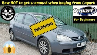 How Not to get scammed when buying cars from Copart