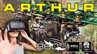360° Arthur & Minimoys Experience VR Roller Coaster | POV | Achterbahn montagnes russes #360video