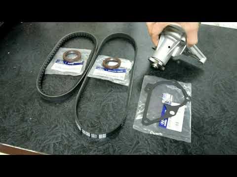 Hyundai Accent (Getz,Elantra,Matrix) Замена ремня ГРМ, помпы, сальников. 16 кл/12 кл.