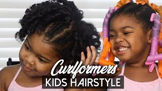 Kids Curlformers Hairstyle   Curlformers On Kids Curly Hair