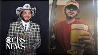 Post Malone surprises fans with new Crocs at the fast food joint where he worked as a teen