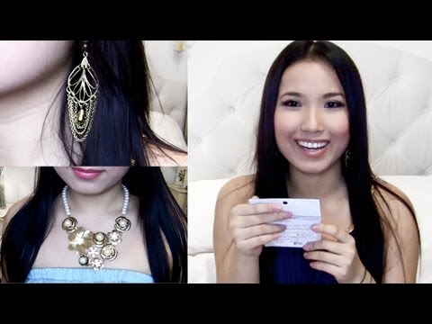 Hanh's Haul : Sparkly Gold Jewelry & False Lashes & Cute Stuff