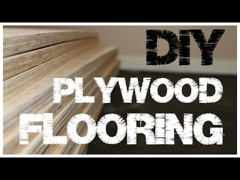Plywood Flooring - An inexpensive alternative to hardwood floors (1)