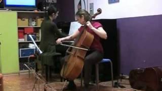 La Siciliana de Faure, dedicado a los alumnos de piano y cello.