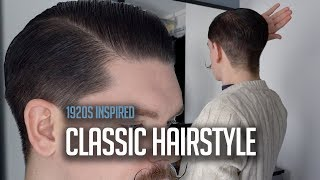 Classic Mens Side Part Hairstyle Using Pomade | Tutorial