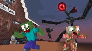 Monster School : SIREN HEAD ATTACK - Minecraft Animation
