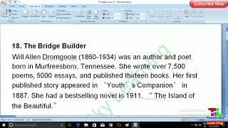 bridge builder poem