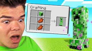 MINECRAFT But CRAFTING Spawns DANGEROUS MOBS!