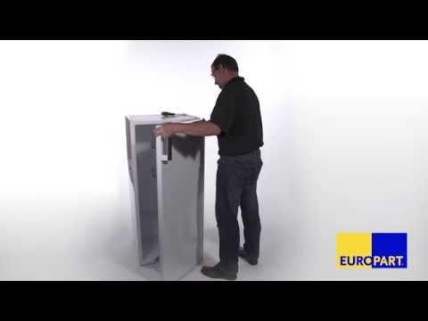 Wie tauscht man die Türscharniere bei einem Kühlschrank?
