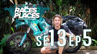 Races to Places SE13 EP5 - Injury Stops Play - Adventure Motorcycling Documentary Ft. Lyndon Poskitt