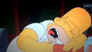 My terrifying dream ever. Homer's crying of life
