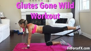 Glutes Gone Wild: Resistance Band Leg & Booty Workout #buttlift #gluteworkout #brazillianbutt by FitForceFX
