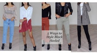 5 Ways To Style Black Ankle Boots For Fall