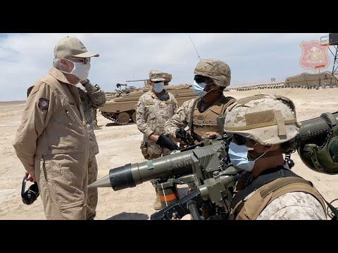 Visita del comandante en jefe del Ejército y el ministro de Defensa de Chile en Arica