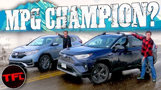 Toyota RAV4 vs Honda CR-V Hybrid Surprise: We Drive Both Up a Mountain To See Which Gets Better MPG!