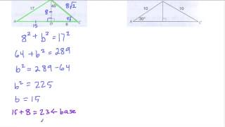 Special Triangles And Area