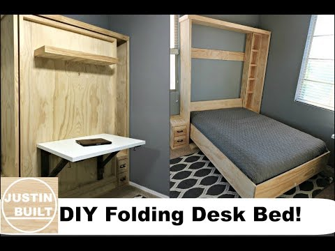 DIY $20 Folding Desk for Murphy Bed!