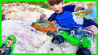 Monster Truck Sand Avalanche!