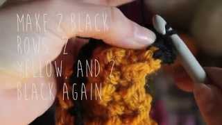 1 minute Harry Potter scarf crochet tutorial!
