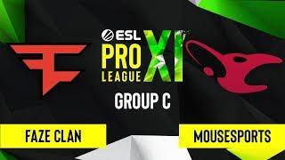 CS:GO - mousesports vs. FaZe Clan [Train] Map 2 - ESL Pro League Season 11 - Group C