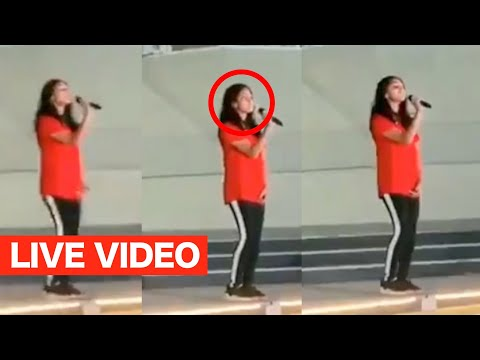 Thala Ajith's Daughter Anoushka Singing Song In Competition - Live Viral Video