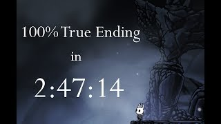Hollow Knight 100% True Ending NMG Speedrun - 2:47:14 loadless