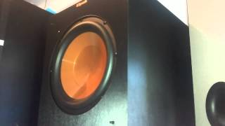 Klipsch R 10 SW in cinematic action. HIGH QUALITY BASS