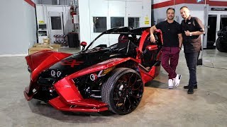 Avorza Polaris Slingshot done for Luis Fonsi by Alex Vega at The Auto Firm