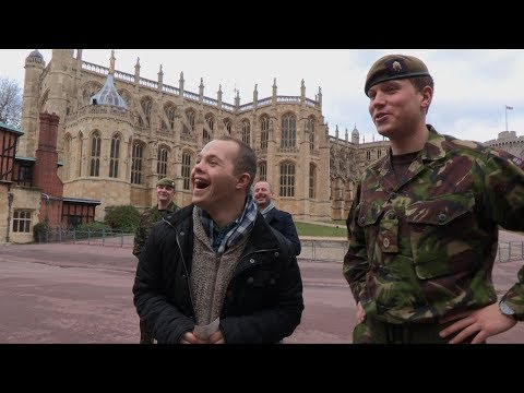 A wholesome video of a man with Down Syndrome visiting his military brother