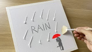 Daily Challenge #53 /  Acrylic / Kiss Under Umbrella In The Rain