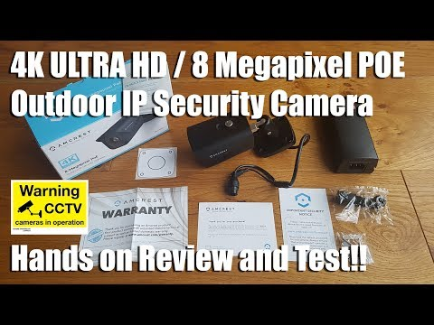 UltraHD 4K (8MP) Outdoor Bullet POE IP Camera by Amcrest [Hands on Review and Test]