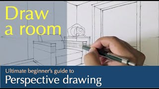 Draw A Box : Sketch Interior 01 ... Sofa And Window... In A Two Point Perspective.
