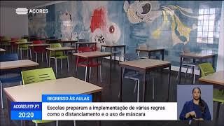 Escolas Açorianas preparam regresso às aulas com distanciamento social e uso de máscaras