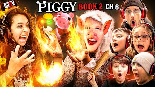 PIGGY FIRED my WIFE!  FGTeeV Family vs. The Factory (ROBLOX Piggy Book 2 Chapter 6)