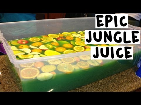 Video How to make an Epic Green Jungle Juice - Tipsy Bartender