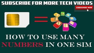 Use Many Mobile Numbers on One Sim Card in