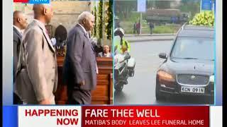Former President Mwai Kibaki attends Kenneth Matiba's funeral service