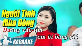 Karaoke Người Tình Mùa Đông (Tone Nữ) - Hoàng Kim Yến | Nhạc Vàng Bolero Karaoke