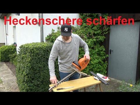 Heckenschere schärfen Messer Heckenschere schärfen schleifen Gartenschere stumpf