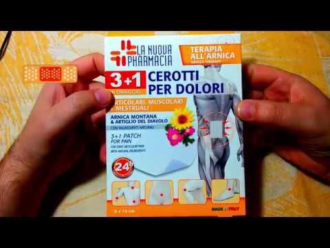 Eurospin: l'arnica in cerotti il rimedio naturale al mal di schiena